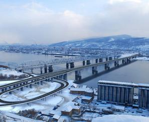 Construction of the 4th road bridge across the Yenisei River in Krasnoyarsk on the section between Dubrovinsky str. and Sverdlovskaya str. (1st stage)
