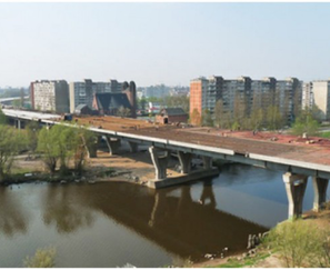 Survey of metal structures of span structures on the objects: «Road Bridge No. 4 across the Staraya Pregolya river » and «Road bridge over the Novaya Pregolya river » in Kaliningrad.
